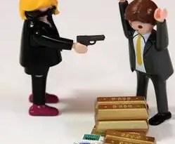 Insólito: Polémica por el Playmobil que representa un atraco a un banco