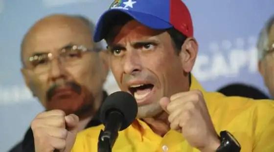 Capriles pide la suspencion de la proclamacion de Maduro