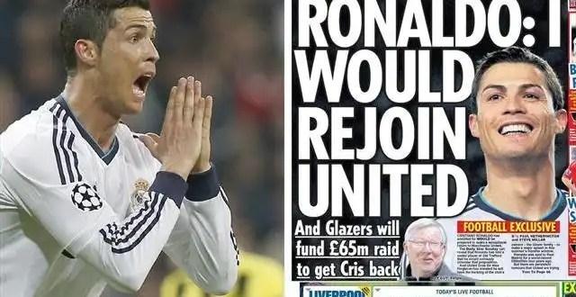 Cristiano Ronaldo ficha por el Mancherster United