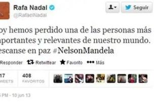 Rafa Nadal da por muerto a Nelson Mandela en su twitter - Fotos
