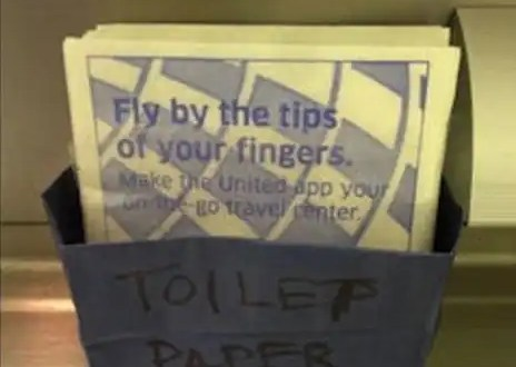 Insólito: Compañía aérea se olvida de cargar papel higiénico en un vuelo de 10 horas
