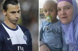 Mira la frialdad de Ibrahimovic con un niño enfermo