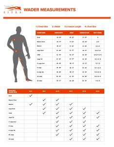 Wader sizing chart also sitka gear turning clothing into rh sitkagear