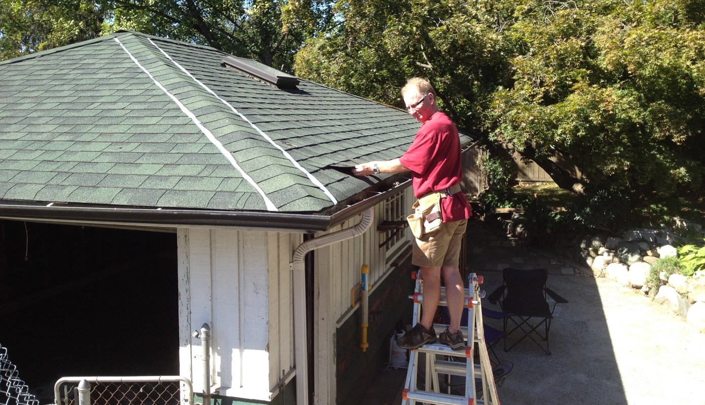 Patching roof holes