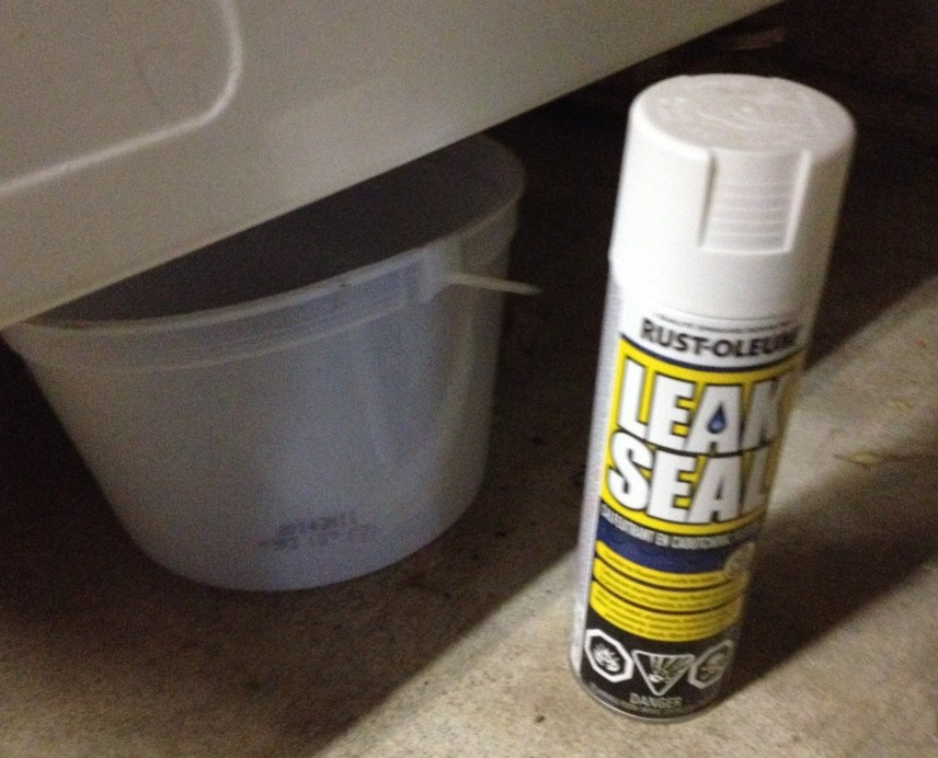 The leaking washer rescue hack