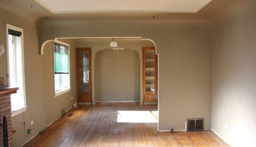 Living room and diningLiving room and dining