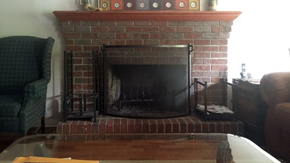 Family Room Fireplace Before