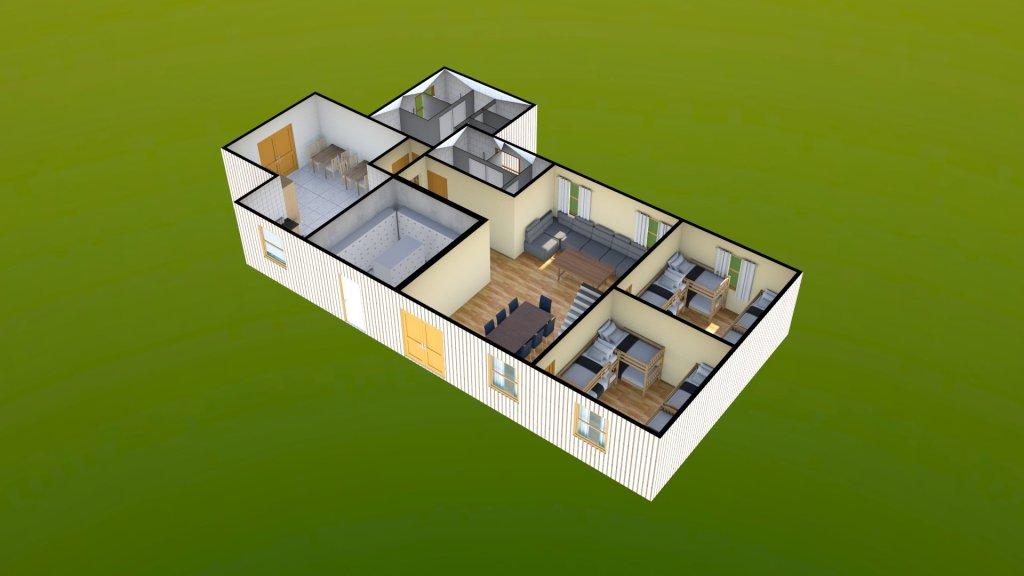Sit Perpetuum Lodge - Ground Floor Render 4