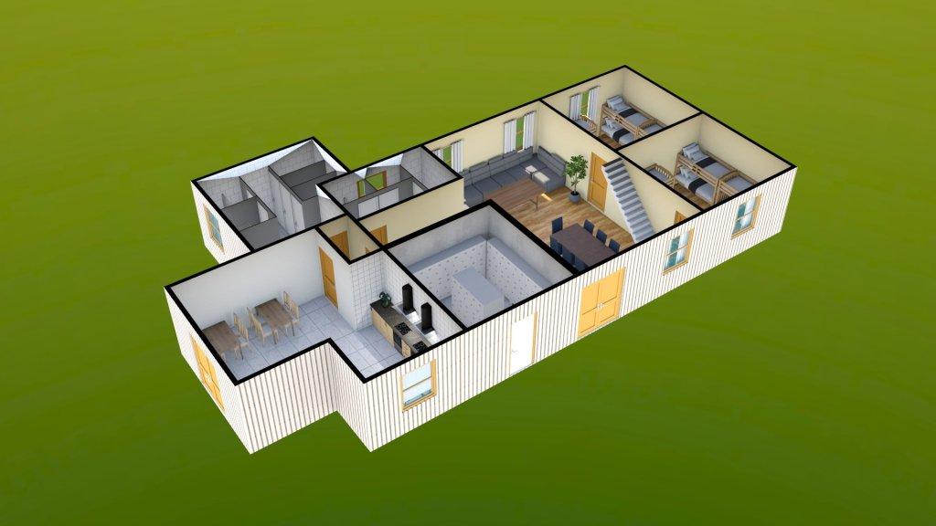 Sit Perpetuum Lodge - Ground Floor Render 1