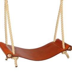 High Chair Cushions Slim Leather Rope Swing | Sitting Spiritually