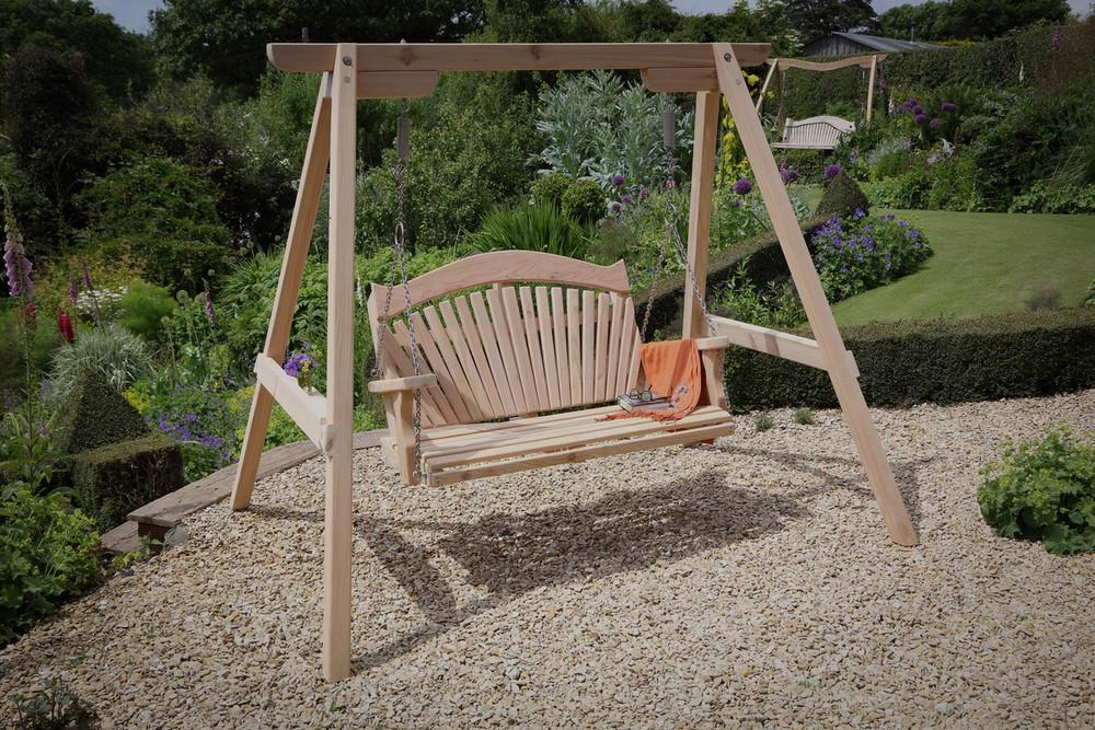 swing chair garden uk kids lounge bespoke maker of seats and benches sitting spiritually