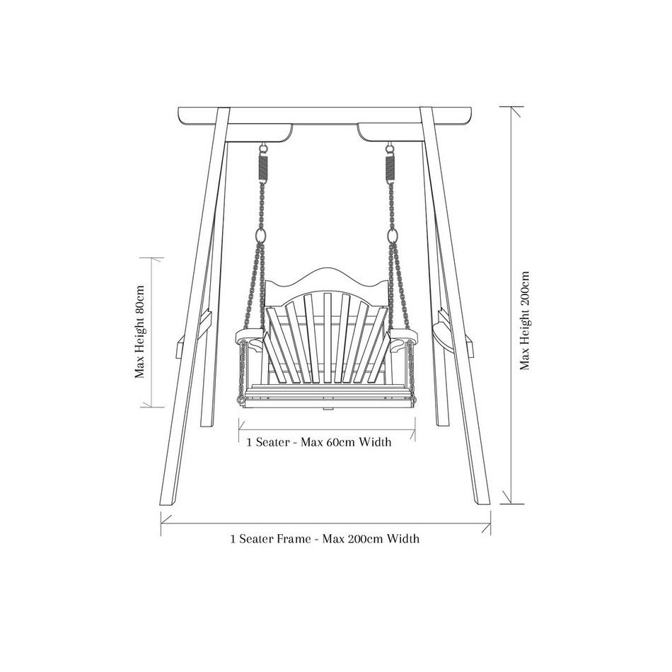 RHS Serenity Garden Swing Seat in Western Red Cedar
