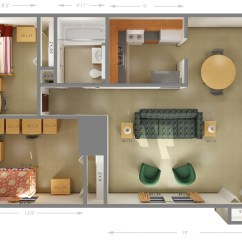 Size Of A Living Room Interior Design For Small In India University Housing Cougar Village Dimensions Siue 1 Private Bedroom Shared