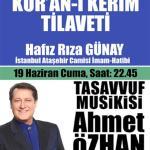 Sivas Belediyesi 2015 Ramazan Etkinlikleri