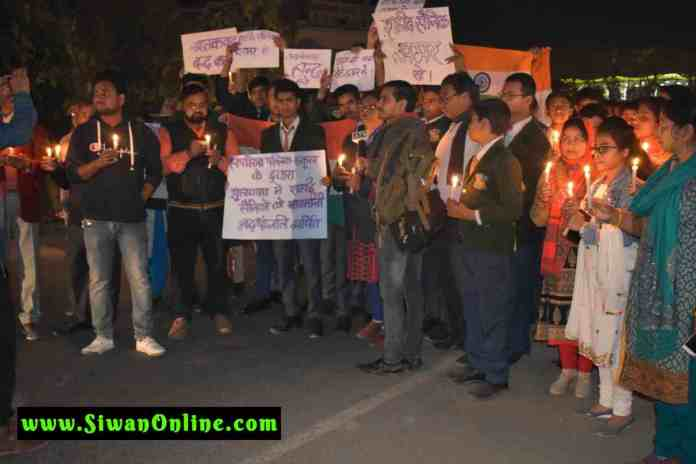 candel march for CRPF
