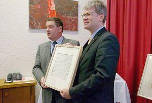 Pressekonferenz am Freitag, 14. Februar 2014 im Spandauer Rathaus mit dem Ersten Vorsitzenden Karl-Heinz Bannasch und dem Bürgermeister H. Kleebank