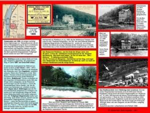 """Von Günter Dick am 14.3. montierte 3. INFO-Tafel am ehemaligen Standort des Ausflugslokals """"Waldhaus"""" unterhalb der HTS in Weidenau."""