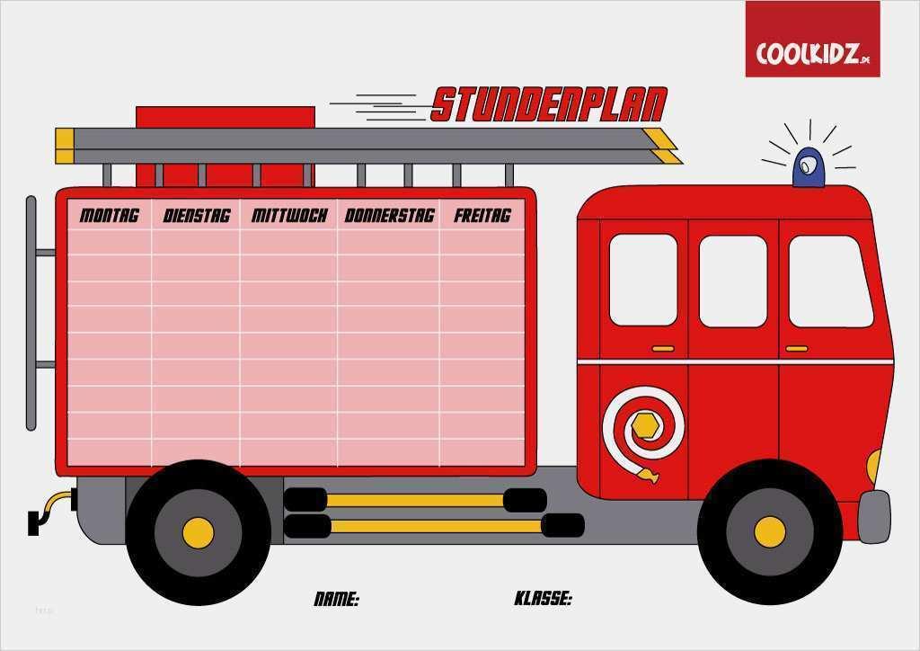 Einsatzprotokoll Feuerwehr Vorlage Fabelhaft Stundenplan