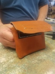 amish leather nail pouch