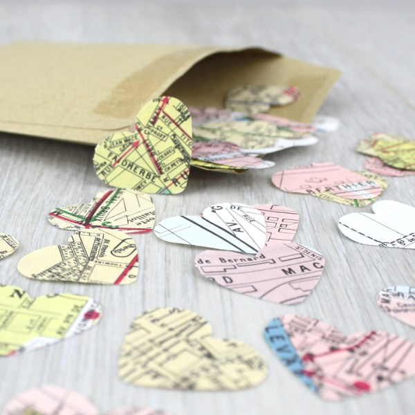 paris map confetti hearts