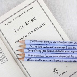 jane eyre quote pencils gifts for bookworms