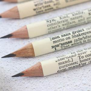 dictionary word pencil set