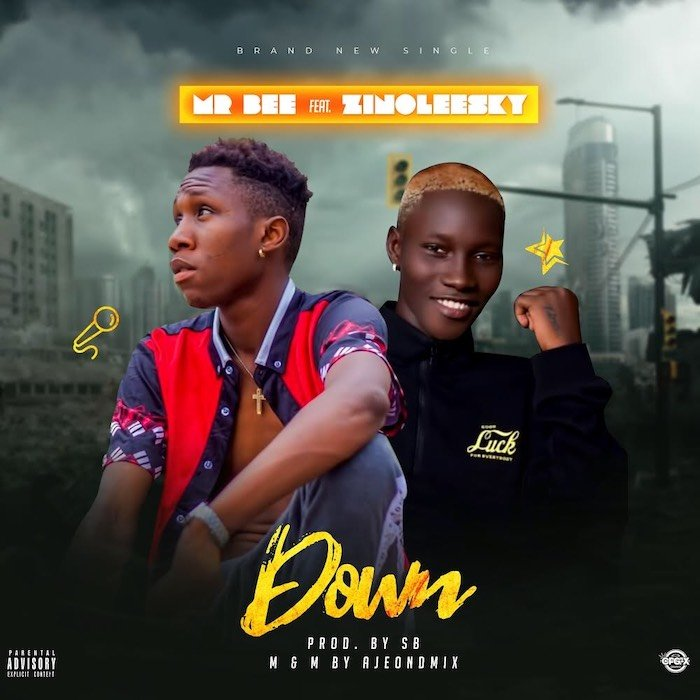 Mr Bee Ft. Zinoleesky – Down