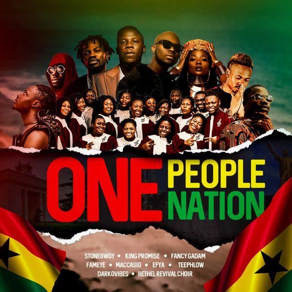 Stonebwoy Ft. King Promise Darkovibes Efya – One People One Nation (Mp3 Download)