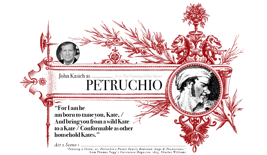 Campaign in Poetry, Govern in Prose - John Kasich as Petruchio