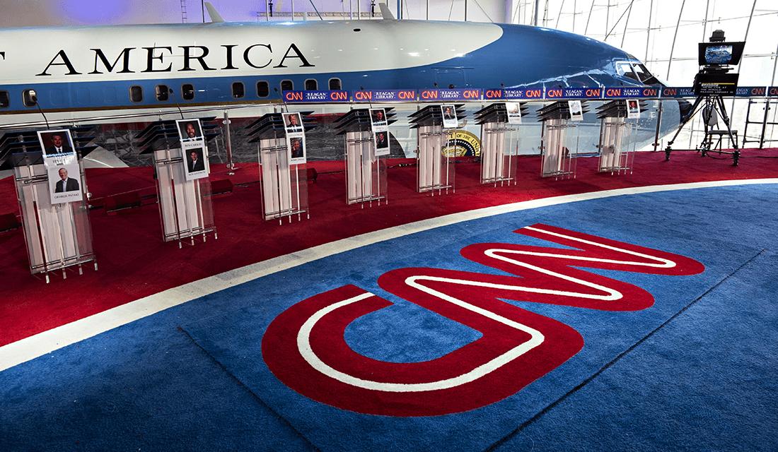 CNN 2016 GOP Presidential Candidate Stage (Source: CNN / WhoTV.com)