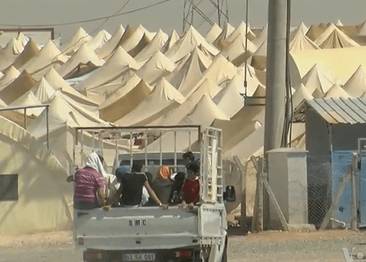 Syrian Refugee Camp (Source: VOA News/Wikimedia Commons)