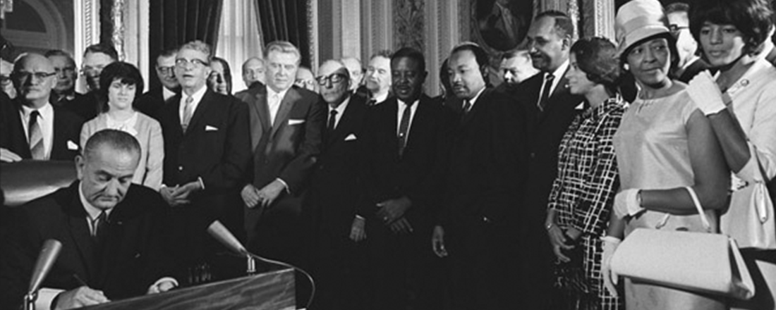 Lyndon Johnson Signs the Voting Rights Act (Source: U.S. National Archives/Flickr)