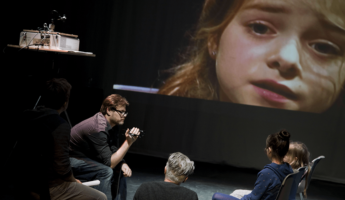 """Milo Rau and his young cast in rehearsal for """"Five Easy Pieces"""" (Source: SPRING Utrecht)"""