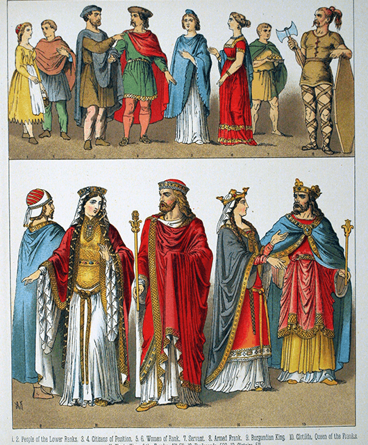19th-century depiction of the 5th-to-8th-century Franks (Source: Wikimedia Commons)