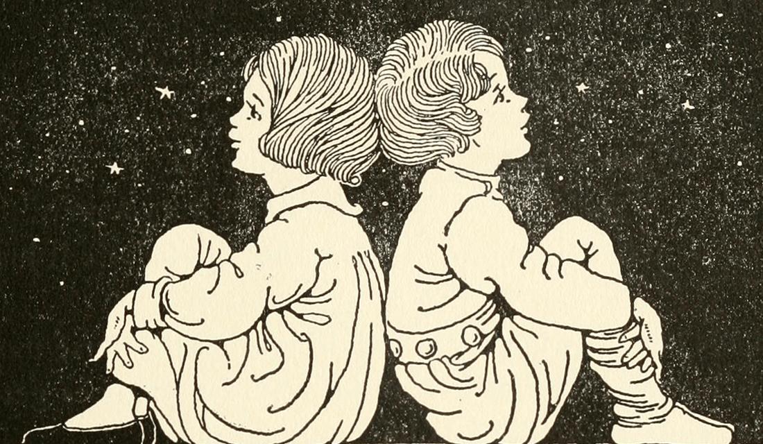 Gazing (Source: Internet Archive Book Images/Flickr)