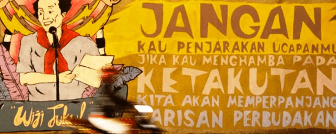 Mural with Wiji's Quote (Source: Bisnis Wisata)