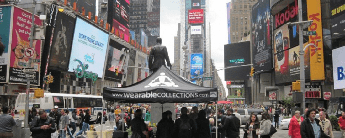 BGA's Times Square collection booth (Source: Broadway Green Alliance)