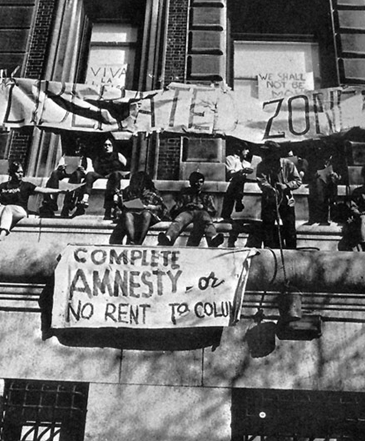 1968 protests at Columbia University (Source: Columbia 1968)