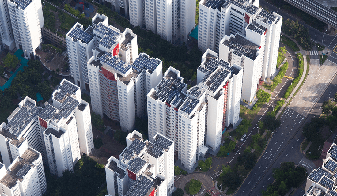 Apple's solar panels on the rooftop of Singaporean apartments (Source: Apple)