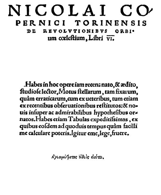 """""""De revolutionibus orbium coelestium"""" by Copernicus (Source: Wikimedia Commons)"""