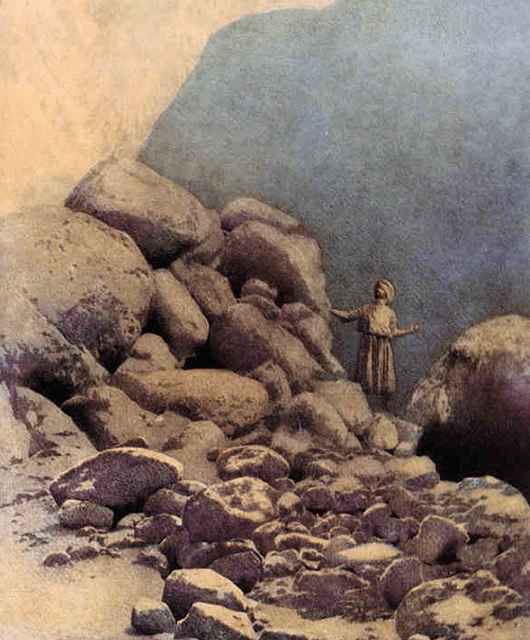 """The Valley of Diamonds"" by Maxfield Parrish (Source: Wikimedia Commons)"