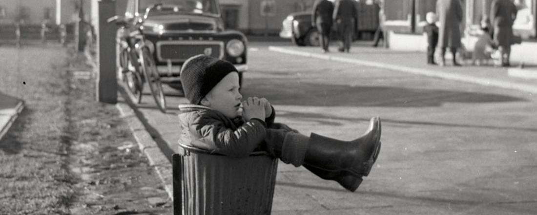 Kid in Trash Can (Source: Stockholm Transport Museum/Flickr)