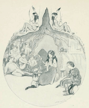 An illustration by Oliver Herford of Wendy Darling (Source: Wikimedia Commons)