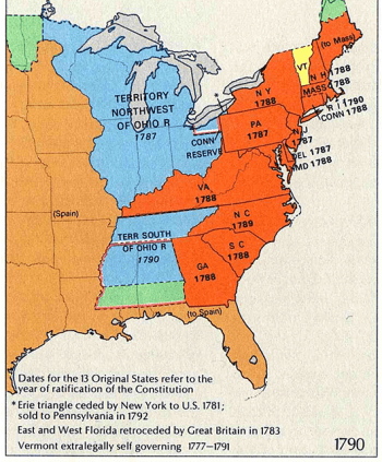 13 Colonies Map (Source: National Atlas of the United States/Wikimedia Commons)