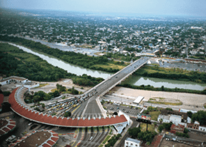 Nuevo Laredo and the Rio Grande (Source: Pinterest)