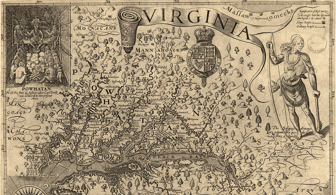 1606 Map of Virginia (Source: Library of Congress/Wikimedia Commons)