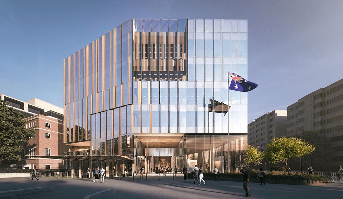 Artist rendering of new Embassy of Australia (Source: Dezeen)