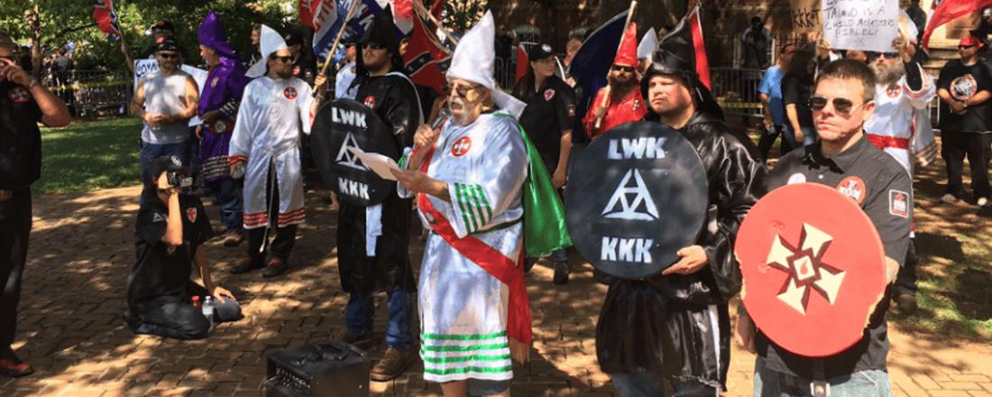 Klan Members in Charlottesville, VA (Source: WJLA/Fox23Maine)