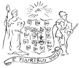 Original 1776 design for the Great Seal by Pierre Eugene du Simitiere (Source: Wikimedia Commons)