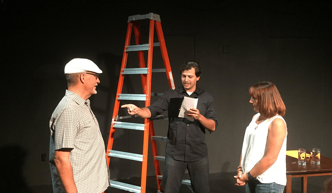 """Pipedream's 2017 production of """"White Rabbit Red Rabbit"""" (Source: Pipedream Productions)"""
